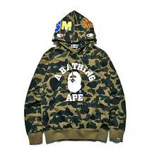 Men's Bape A Bathing Ape Full Zip Shark Head Camo Hoodie Coat Sweatshirt Jacket.