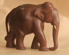 """5"""" HANDCRAFTED SINGLE LOG ROSEWOOD WOODEN CARVED ANIMALS WOOD ELEPHANT"""