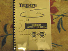 TRIUMPH 3T 5T 6T TR5 T100 T110 WORKSHOP INSTRUCTION MANUAL 1945-55 No11 - TW17