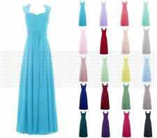 Chiffon lace Formal Long Prom Party Evening Wedding Bridesmaid Dresses Size 6-24