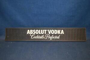 """Absolut Vodka 21""""x 3 1/2"""" Black Rubber Bar Spill Rail Mat Man Cave Bar Decor"""