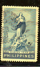 PHILIPPINES #617  1954  END OF THE MARIAN YEAR    F-VF  USED