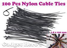 Gadget Hero's Nylon Cable Ties / Tie Wrap / Hose Tie / Zip Tie 1.8x100mm. 100pcs
