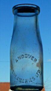 Half-pint wide-necked milk bottle from ANDOVER CREAMERIES.