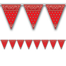3.6m Western Style Print Pennant Banner - Wild West Cowboy Party Decorations