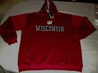 Wisconsin Badgers Synthetic Hoodie 2XL Section 101 Red Embroidered NCAA