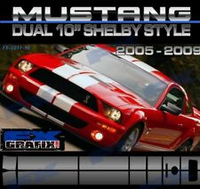 "2006 Ford Mustang Dual 10"" GT 500 Rally Stripe Kit #1 in Dealer Quality Stripes"
