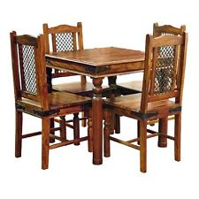 Brand New Jali Ganga-Indian Solid Sheesham Wood-80 Cm TABLE ONLY(WITHOUT CHAIRS)