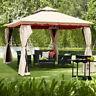 13'x10'Outdoor Canopy Gazebo Art Steel Frame Party Patio Canopy Gazebo W/Netting