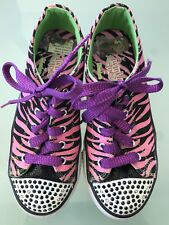 SKECHERS TWINKLE TOES LIGHT UP GIRL SHOES SIZE US3