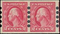 VEGAS - 1912 Sc# 409 Mailometer Perf T4 MH, OG - Paste Up Pair -Centering!- EP29