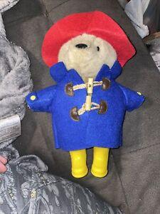 """Yottoy Plush 11"""" PADDINGTON BEAR Red Hat, Yellow Rain Boots -"""