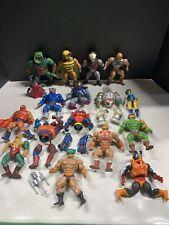 He-Man 1980's MASTERS OF THE UNIVERSE MOTU Vintage Action Figures LOT 17 figures