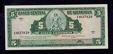 NICARAGUA  5  CORDOBAS  1962  A  PICK # 108  XF.