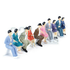 10 pcs. Sitting 1:32 Scale Figures Miniature Model People Sitting Male Female