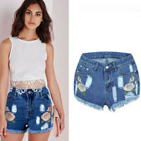 UK Fashion Women High Waisted Denim Jeans Hot Casual Shorts Pants Underpants New