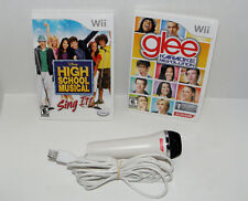 Karaoke Revolution: Glee (Nintendo Wii, 2011) with  microphone