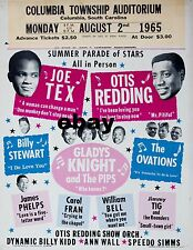 "Otis Redding / Joe Tex Columbia 16"" x 12"" Photo Repro Concert Poster"