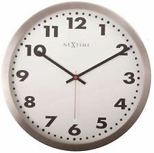 Nextime Arabic Stainless Steel Wall Clock, 26cm, White, 2519