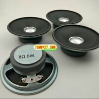 "2pcs 3""inch 76MM 8Ω 5W round Speaker Loudspeaker 8Ohm HiFi Home Audio Parts"