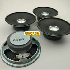 "2pcs 3"" inch 76MM 8Ohm 8Ω 5W round radio speaker Loudspeaker player"