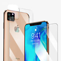 9H Front+Back Tempered Glass Film Screen Protector for iPhone 11 Pro Max XS Xr
