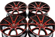 16 Drift red Rims Wheels PT Cruiser Celica Matrix Prius Civic Soul 5x100 5x114.3