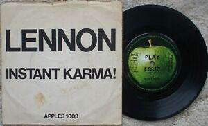 John Lennon - Instant Karma - Apple 1003 - Ex- 45 + RARE Picture Sleeve