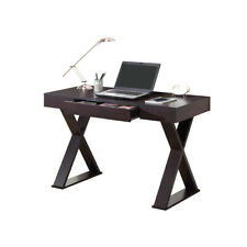 Office Express X-Leg Laptop Computer Home Office Desk - Espresso