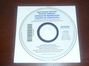 Epson Perfection 4490 Photo Scanner Software Disc CD