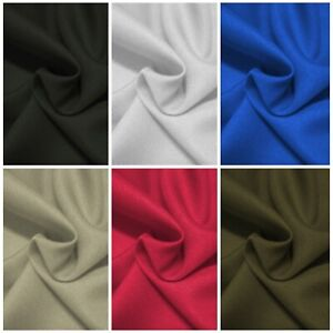 """Textured Twill Polyester Fabric 60"""" (150cms) Dressing Clothing Crafting Material"""