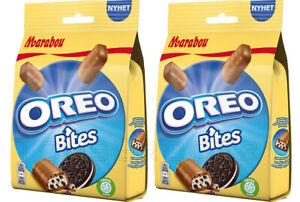 2 x Marabou OREO Chocolate Candy Bites With Cookie Crisps 140g 4.9oz