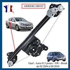 Réparation Lève-vitre arrière gauche arg cote conducteur Opel Astra h =13100423