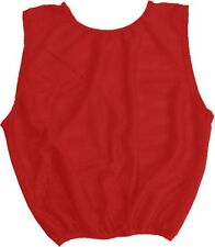 New Martin Dozen Youth Heavy Duty All Sports Football Lacrosse Vests Pinnies Red