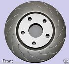 FORD BA XR6 XR8 BF FG XR6 DISC BRAKE ROTORS SLOTTED J HOOK FRONT PAIR