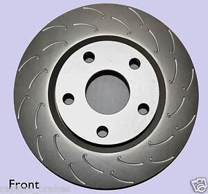 BRAKE DISC ROTORS TO SUIT NISSAN R32 GTS SLOTTED J HOOK MAXX TRACK Full Set