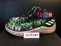 Bape x Adidas Dame 4 Green Camo 8-13 Gum AP9974 All Star A Bathing Ape