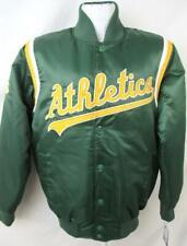 Oakland Athletics Mens M L 2XL Starter Embroidered Satin Dug Out Jacket OLA 5