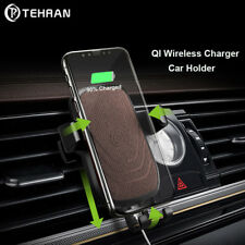 QI Fast Wireless Charger Car Mount Holder For iPhone X 8 7 Samsung S8 S9 Huawei