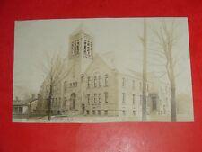 ZS358 Vintage 1909 RPPC Memorial M.E. Church Astabula Ohio