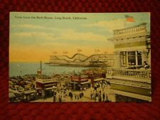 1920'S. ROLLER COASTER,COCA-COLA STAND. LONG BEACH, CALIF. POSTCARD G9