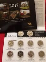2017 P D US Mint America The Beautiful Uncirculated 10 Coin Quarter PD Set 17AA