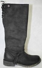 Roxy Rider J Black Women Round Toe Synthetic Knee High Boot Size 8
