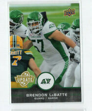 2016 Upper Deck CFL Update SP Brendon Labatte Roughriders U9