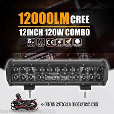 "4D+ 5W Cree 120W 12"" Flood + Spot Combo LED Light Bar Offroad Vs Osram 14"" 168W"