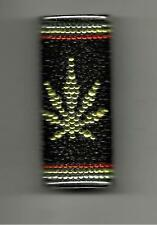 YELLOW LEAF PATTERN (RASTA) GLITTER LIGHTER CASE FOR REGULAR BIC