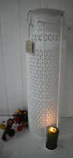 Bottle Candle holder with Cutwork Pattern White 60x19x19cm