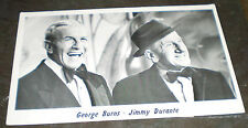 George Burns – Jimmy Durante Photo Card (circa 1960s)
