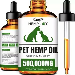DOG HEMP OIL ⭐Hemp Oil For Dogs ⭐Pet Calming Organic Hemp Oil Drops For Dogs