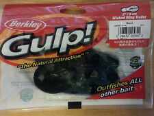 "Berkley Gulp 3"" wicked wing trailer black color"